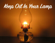 Keep Oil In Your Lamp