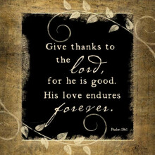 O Give Thanks To The Lord