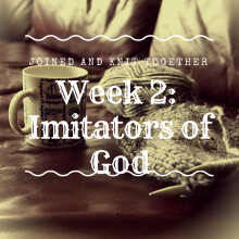 Week 2 Joined and Knit Together: Imitators of God