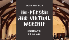 Join Us for In Person Worship