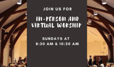 Join Us for In-Person Worship
